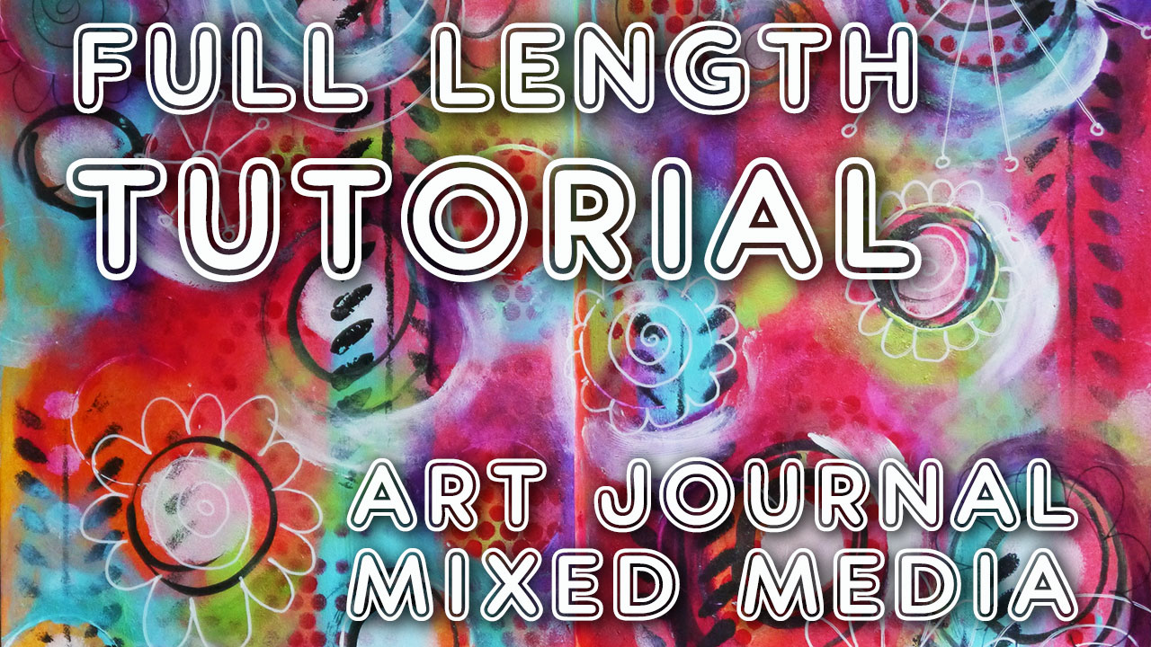 "Studio Time 1 – ""Spinning"" art journal (watch the process!)"