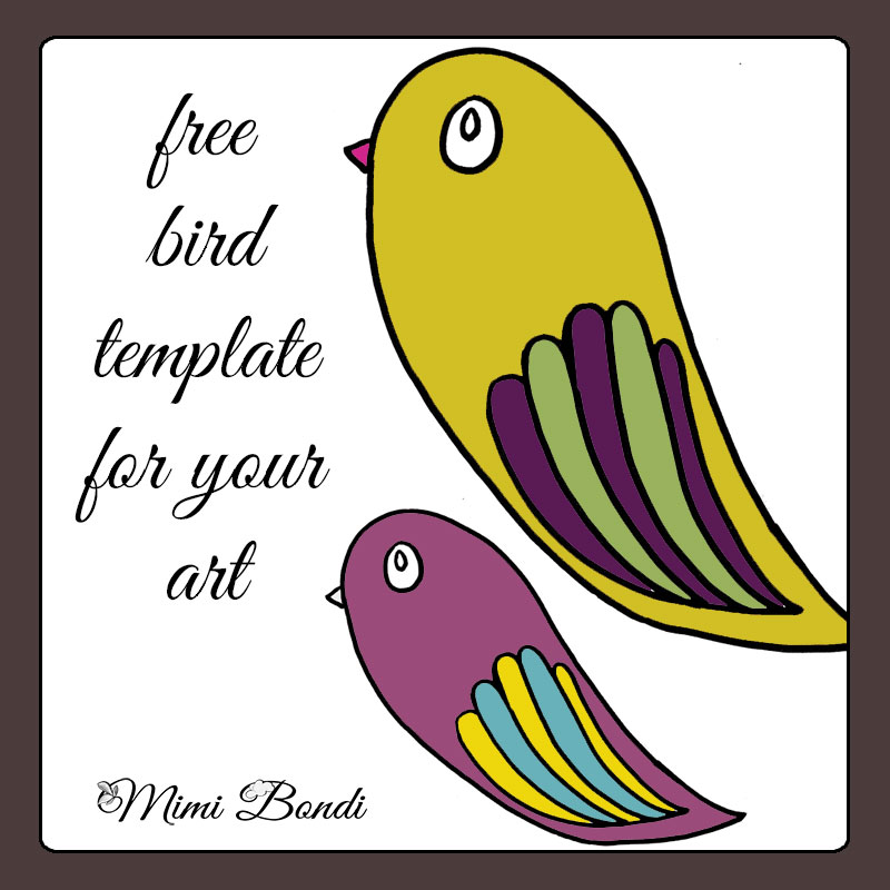 free whimsical bird template download by mimi bondi