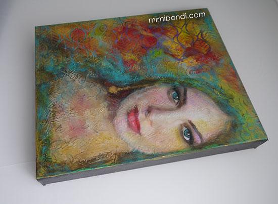 Inner Strength & Beauty   Mixed Media Painting by Mimi Bondi
