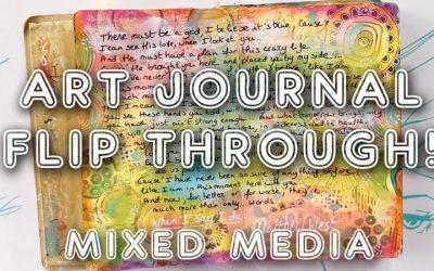 Art journal Flip Through Mixed media (ST71)
